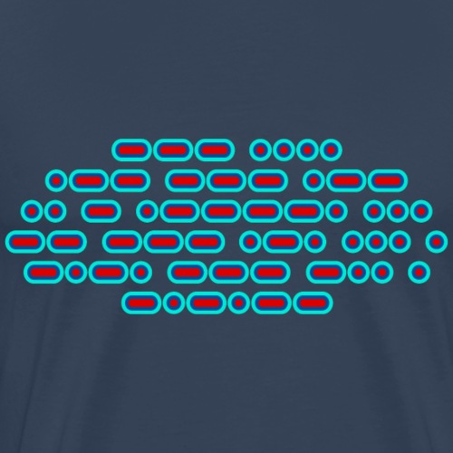 OH WOW IT'S MORSE CODE! (red/blue) - Men's Premium T-Shirt