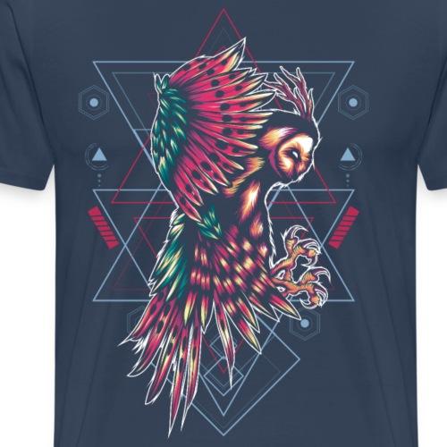 geometry owl - Men's Premium T-Shirt