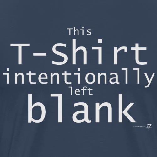 Fast leeres T-Shirt weiß auf dunkel - Männer Premium T-Shirt