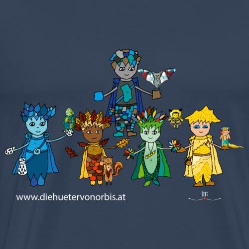 Die Fünf Gooders mit Freunden - Männer Premium T-Shirt