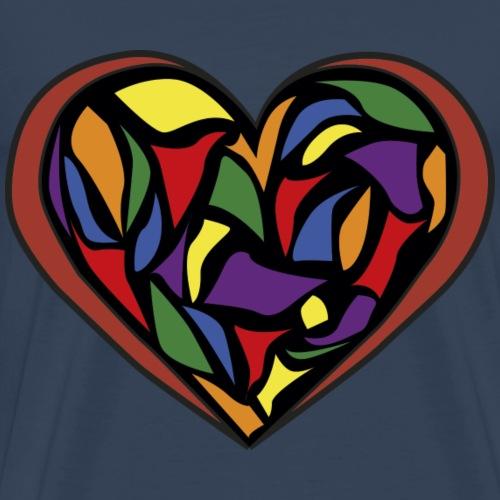 glas hjerte - Herre premium T-shirt