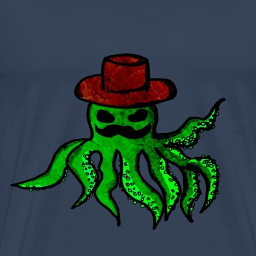 Blekksprut med hatt - Premium T-skjorte for menn
