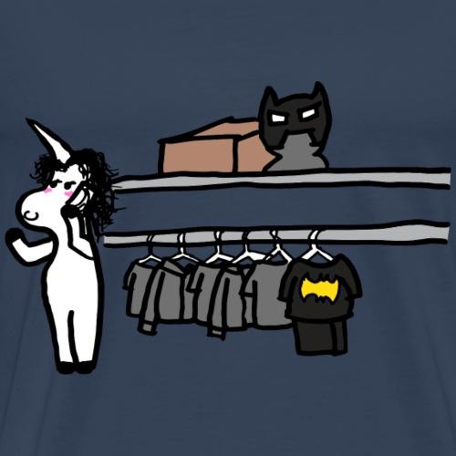 Unicornio hablando por telefono - Camiseta premium hombre