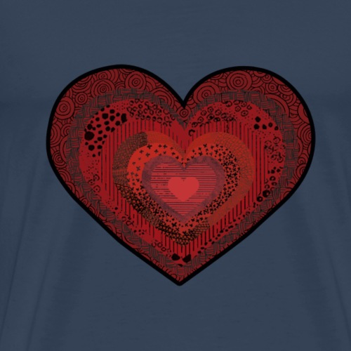 corazón de patrón - Camiseta premium hombre