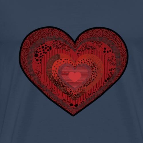 corazón de patrón - Herre premium T-shirt
