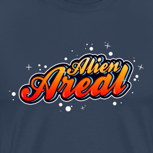 Colorful Alien Logo - Premium T-skjorte for menn