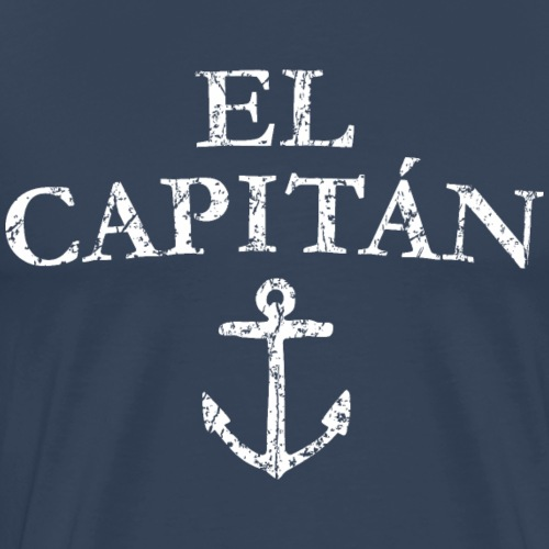 El Capitan Anker (Vintage Weiß) Kapitän Käpt'n - Männer Premium T-Shirt
