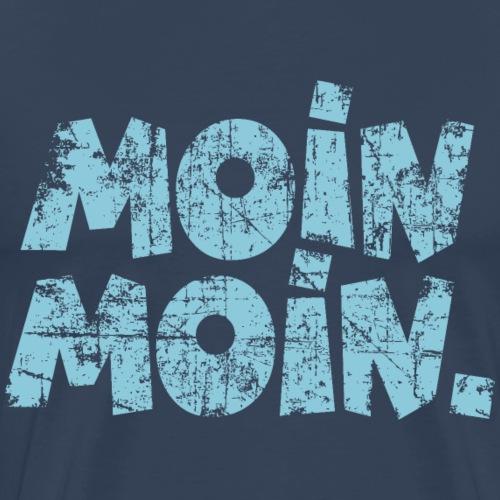 Moin Moin. (Vintage Hellblau) Guten Morgen Gruß - Männer Premium T-Shirt