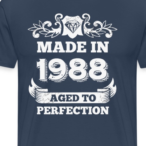 30th Birthday gift Made in 1988 Aged to Perfection - Men's Premium T-Shirt