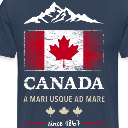 Canada Kanada Amerika maple leaf Flagge Fahne - Men's Premium T-Shirt