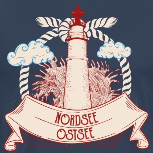Leuchtturm Nordsee Ostsee - Männer Premium T-Shirt