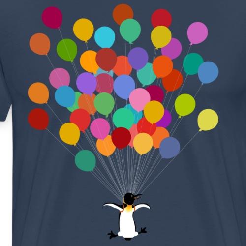 Pinguin fliegt - Männer Premium T-Shirt