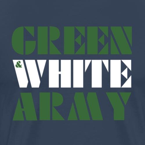 GREEN & WHITE ARMY _STENCIL_3 - Men's Premium T-Shirt