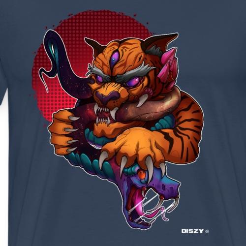 Tiger Japan Schlange Dämon Artwork Asien Mythos