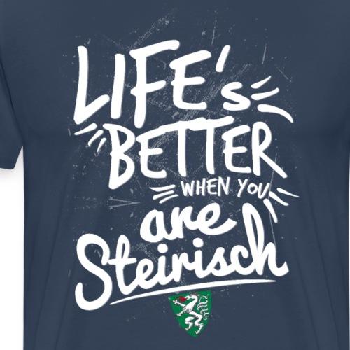 LIFES_BETTER_STMK - Männer Premium T-Shirt