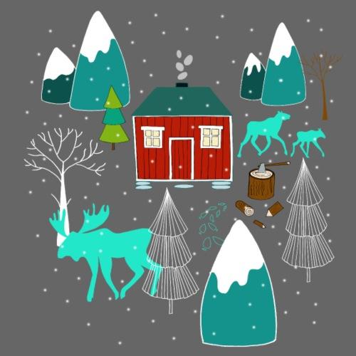 Weihnachten Elch I Geschenk Winterstimmung - Männer Premium T-Shirt