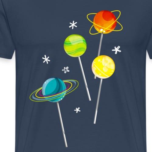 Candy-Planets - Männer Premium T-Shirt