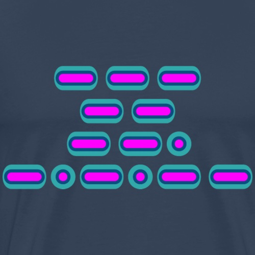 OMG! (pink/blue/teal) - Men's Premium T-Shirt