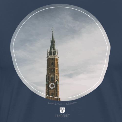 Martinskirche Landshut, painted style - Männer Premium T-Shirt