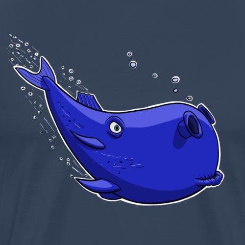 Blauer fantastischer Wal - Männer Premium T-Shirt