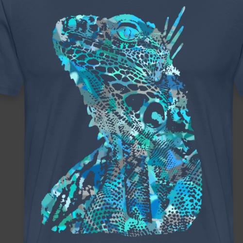 LIZARD1 - BLUE - Men's Premium T-Shirt