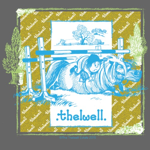 PonyFall blue yellow Thelwell Cartoon - Men's Premium T-Shirt