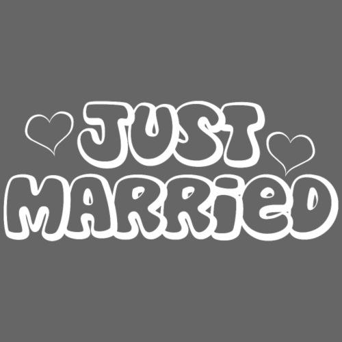 JUST MARRIED Partner Namen weiss - Männer Premium T-Shirt