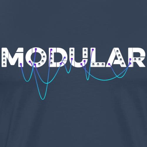Modular Synthesizer, DJ, Produzent und old school - Männer Premium T-Shirt