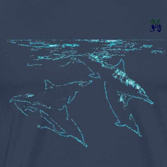 5 Dauphins bleu