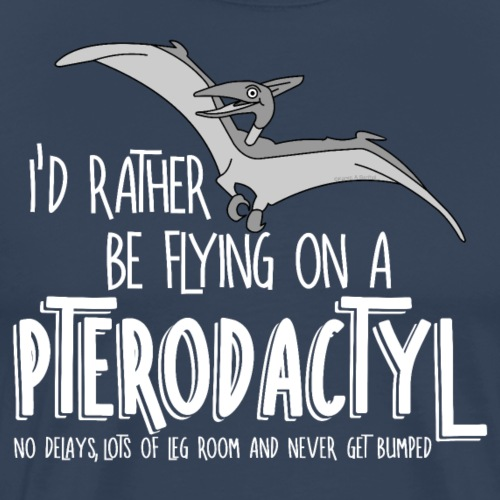 Flying Pterodactyl Dinosaur Airline White Text