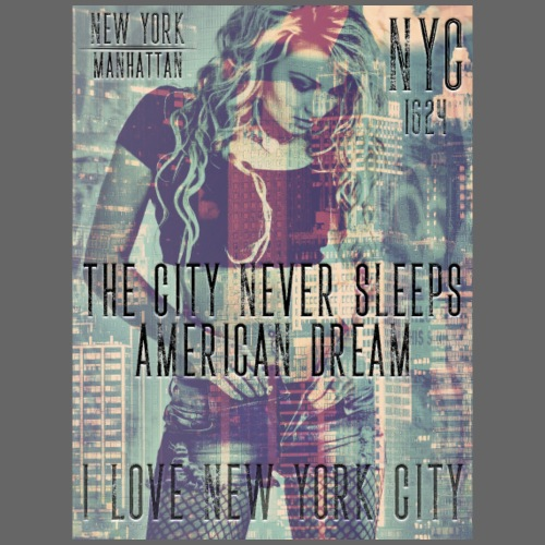NEW YORK - THE CITY NEVER SLEEPS - DB #1 (CV) - Männer Premium T-Shirt