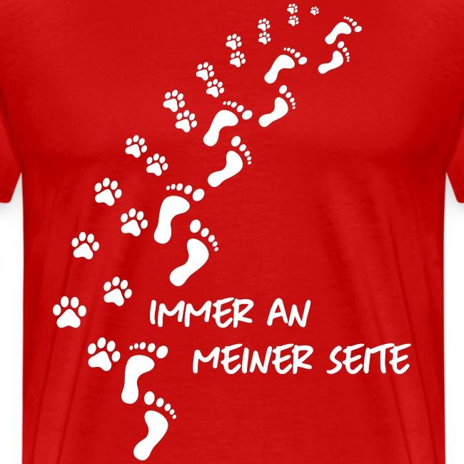 Vorschau: Immer an meiner Seite - Mein Hund und Ich - Männer Premium T-Shirt