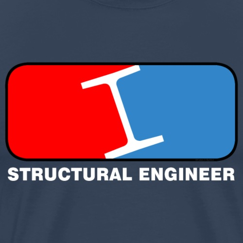 Structural Engineer League White Text - Men's Premium T-Shirt