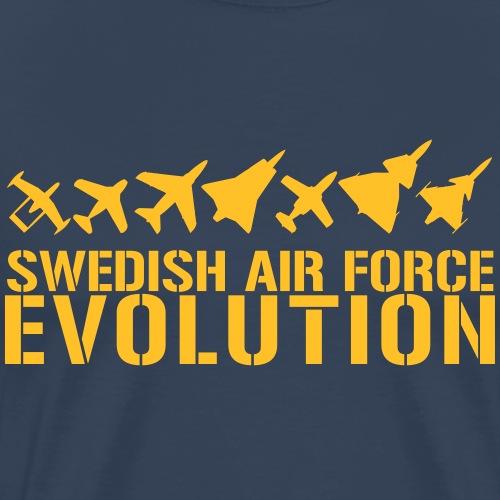 Swedish Air Force Evolution - Premium-T-shirt herr