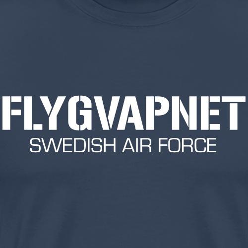 FLYGVAPNET - SWEDISH AIR FORCE - Premium-T-shirt herr