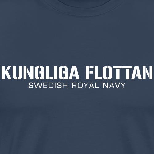 Kungliga Flottan - Swedish Royal Navy - Premium-T-shirt herr