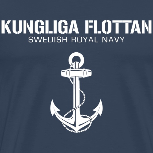 Kungliga Flottan - Swedish Royal Navy - ankare - Premium-T-shirt herr