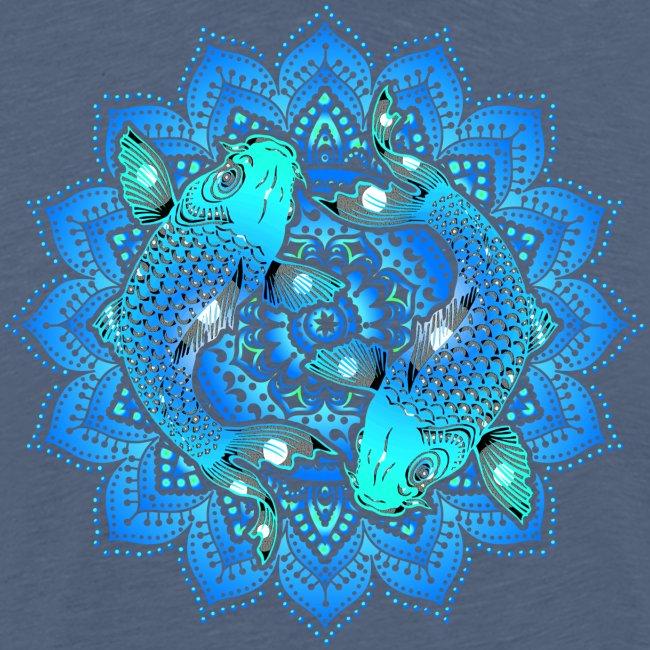 Asian Pond Carp - Koi Fish Mandala 1