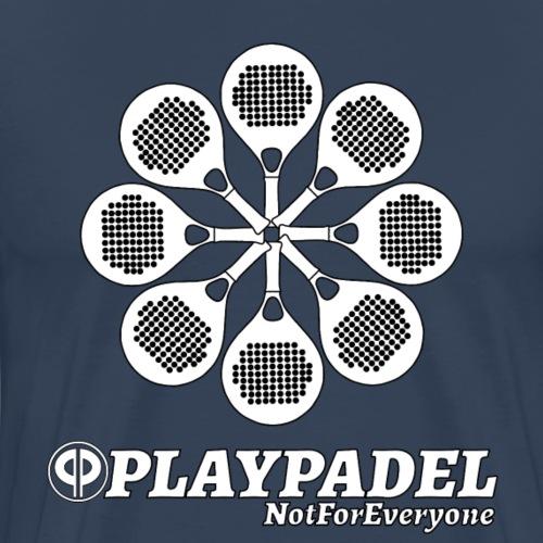 PLAYPADELWhiteFlower - Maglietta Premium da uomo