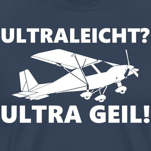 ultraleicht Flugzeug Pilot fliegen Geschenk Tshirt - Männer Premium T-Shirt