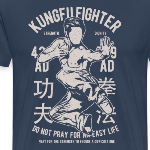 Kungfu Fighter png - Männer Premium T-Shirt