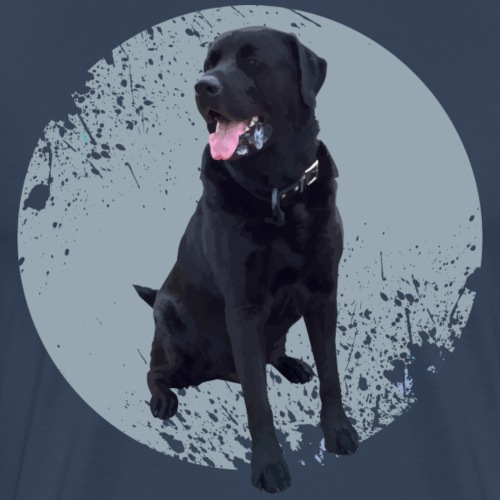 Molosser - schwarzer Hund - Männer Premium T-Shirt