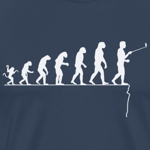 Evolution of the man: to look too much ...... - Men's Premium T-Shirt