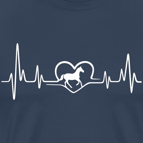 Heartbeat Pferd - Men's Premium T-Shirt