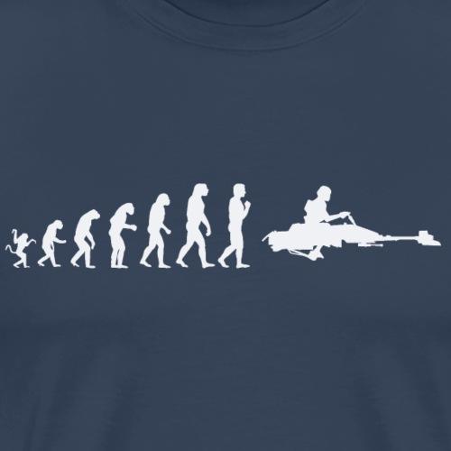 Human Evolution: Stormtrooper S Wars - Men's Premium T-Shirt
