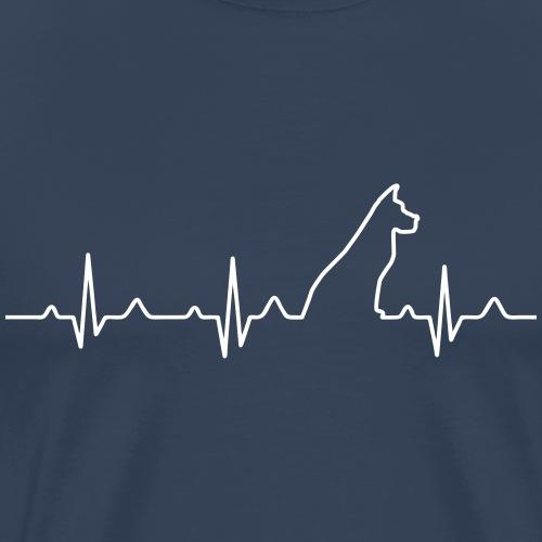 Dog Heartbeat 2 - Männer Premium T-Shirt