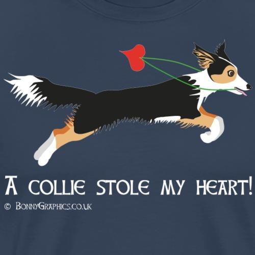 Collie thief tricolour - Men's Premium T-Shirt