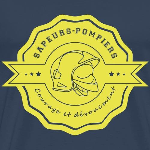 pompiers honneur courage devouement - T-shirt Premium Homme