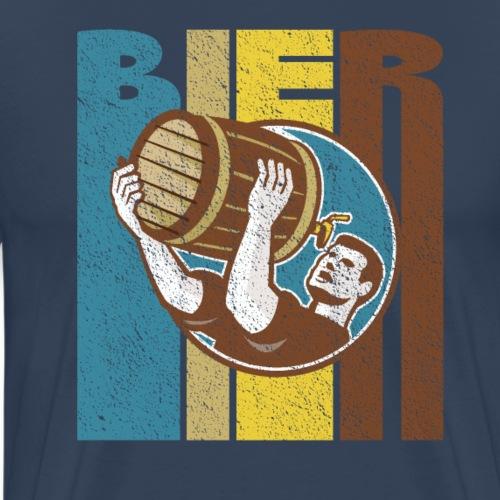 Bier Logo Retro - Männer Premium T-Shirt