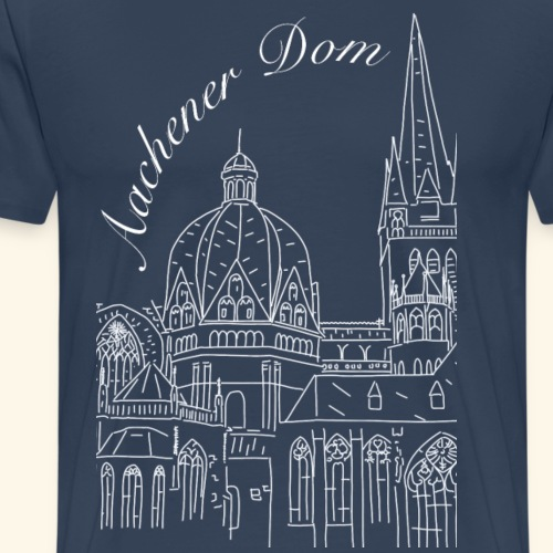 Aachener Dom - Männer Premium T-Shirt